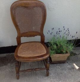 Victorian Wicker Back and Seat, Nursing Chair