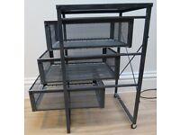 Filing Tray - big capacity, dark grey mesh, 3 tiers