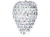 Laura Ashley Teardrop Crystal Ceiling Light with fitting