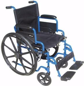 Fauteuil roulant Blue Streak - 236.99$ - Livraison gratuite partout au Québec - Neuf - Aucune taxes sur chaise roulante