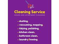 Cleaning service 10,50£/h