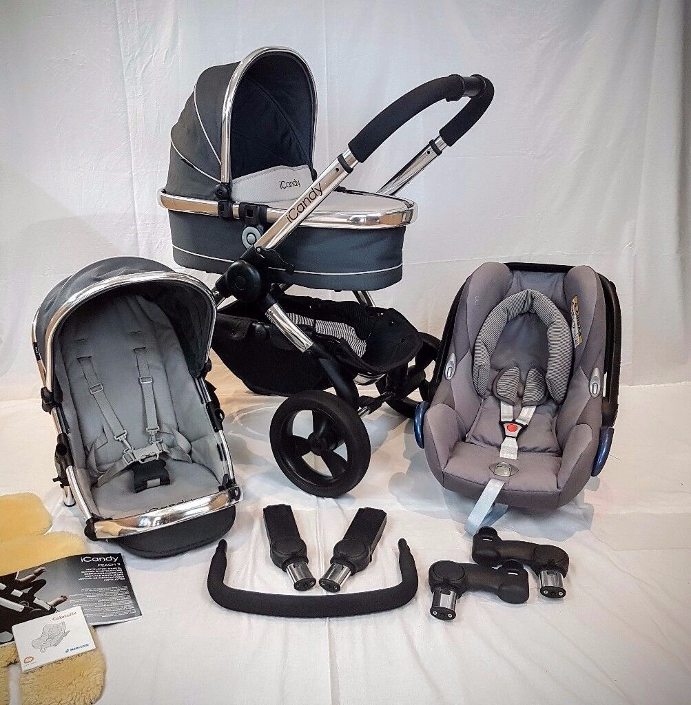 Icandy Peach 3 Truffle Maxi Cosi Car Seat Concrete Grey