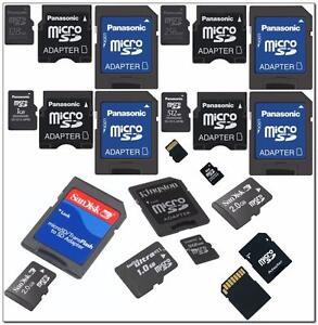 Micro SD Memory Cards, 256, 128, 64, 32mb & 2G & 4G & M2 & 8 GB