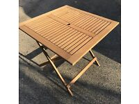 Wooden Garden patio Square Table