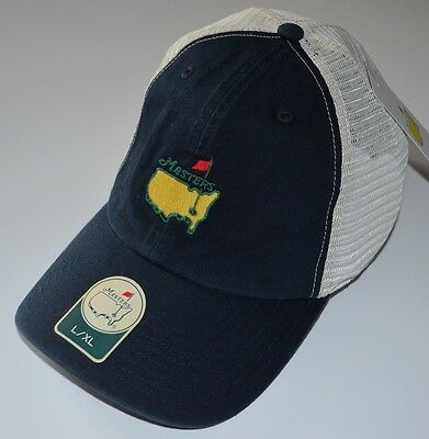 2018 MASTERS (NAVY/WHITE) Trucker FITTED (L/XL) Golf HAT from AUGUSTA NATIONAL ()