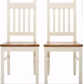 4 New Chiltern Solid Wood Chairs FREE DELIVERY 807