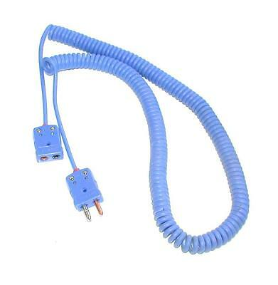 New Omega Blue Spiral Thermocouple Extension Cable Type T