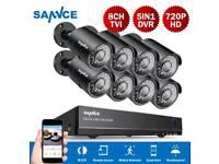 Cctv system 8xhd cameras and dvr