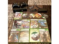 XBOX 360 with 2 controllers and 14 games (great condition)