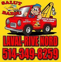 ►► LAVAL-RIVE-NORD◄◄  ►►ACHAT AUTO/CAMION POUR FERRAILLE◄◄