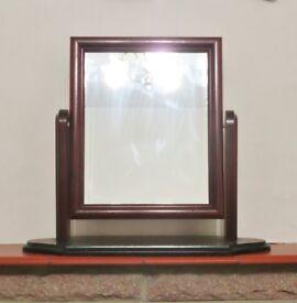 Mahogany effect Wooden Swivel Dressing Table Top Bathroom Vanity / Shaving Mirror