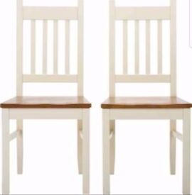 4 New Chiltern Solid Wood Chairs FREE DELIVERY 906