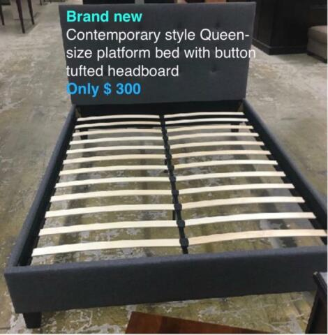 End of may sale! Platform queen size beds roll-out beds single