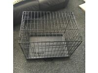 Like New Collapsable Dog Cage.