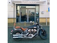 2015 65 Plate Indian Scout, matt black with over £2000 of accessories.