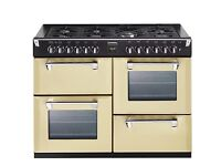 Stoves Richmond 110DFT in cream with matching hood