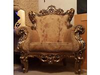 Victorian style armchairs