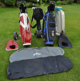 2 Golf Sets, 5 Bags, & 2 Trolleys for Quick sale