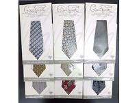9 New Gents Vintage Authentic Giani Feroti Silk Ties in Various Styles