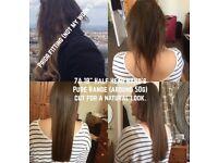 100% Human Hair Extension from £155. Nano&Micro Rings, Keratin Bonds +