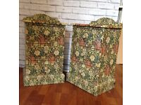 William Morris decoupage pair of side tables chest of drawers