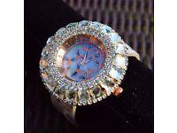 NEW Women's Zircon Rhinestone & dragonfly pattern watch