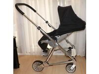 mamas and papas urbo pushchair ,in black ,sold as is ,no shopping basket or raincover