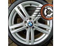 """18"""" Genuine BMW 1 series M Sport alloys staggered fair cond good tyres."""