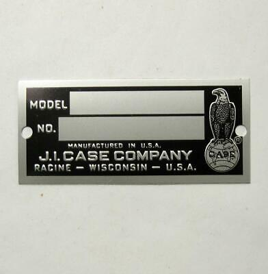 Genuine Original Ji Case Tractor Model Serial Number Plate Blank Vtg Part Tag