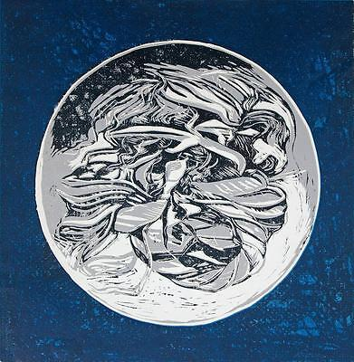 ABSTRACT PLANET Signed Screenprint PATRICIA BLAKE c1990