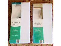 White Double Fitted Sheet & Two Matching Pillowcases (NEW & SEALED)