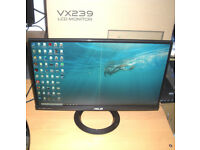 "ASUS VX239H 23"" IPS LED Monitor Full HD Frameless 178° wide-view"