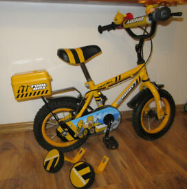 "Apollo Digby Childrens Bike Bicycle 12"" Inch Wheels Steel Frame in Yellow"