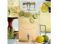 2 x 8 Litre Drinks Dispensers- Kilner +Nantucket(Boxed)