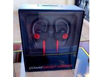 Power Beats 2 Wireless Bluetooth Headphones (Black and Red)