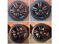 Genuine 17 inch Mini JCW Track Spoke Alloy Wheels and Pirelli Tyres F56