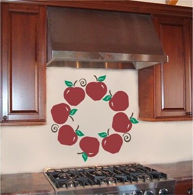 Home Decoration - Apple Wreath Kitchen Wall Sticker Vinyl Decal Decor Art