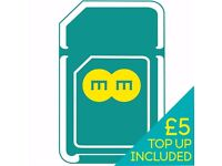 EE 4G Pay As You Go Multi SIM (Standard micro Nano) with £5 credit - Sealed with phone number