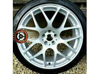 "18"" VMR alloys 5x100, refurbished, 4 great tyres."