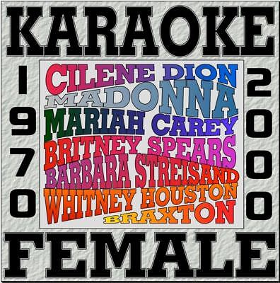 KARAOKE Female Superstar 10 New CDG Barbra Stresand,Celine Dion, Mariah Carey,
