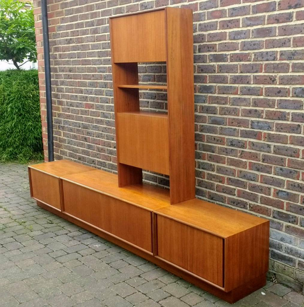 Vintage Retro Mid Century Danish Style G Plan Teak wall Unit ...