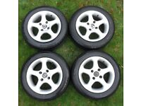 """* Full Set of 4 14"""" Mas Italy Winter Spare Track Day Project Alloy Wheels & Tyres 175 60R 14 79H *"""
