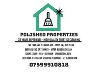 POLISHED PROPERTY CLEANING SERVICES-PRESTIGE QUALITY AFFORDABLE-END OF TENANCY-DEEP CLEAN - PAINTING