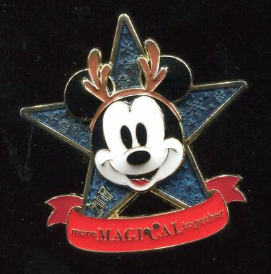 DS Christmas 2017 More Magical Together Mickey Disney Pin 125241