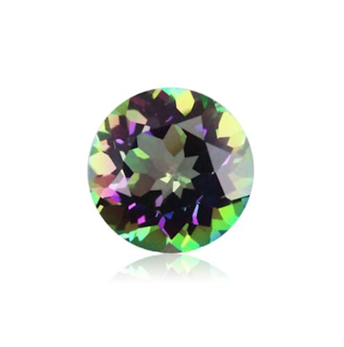 Natural Mystic Green Topaz VVS Round Faceted AAA Loose Gemstones (1.5mm - 15mm)