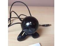 Logitech webcam QuickCam Communicate STX with instructions, installation driver CD, ideal Skype etc