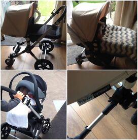 Off white Bugaboo Cameleon 3 (full travel system)