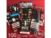 ⭐️100 ITEMS OF VARIOUS MAKEUP SETS,ALL BRAND NEW,LIPSTICKS,MASCARA,EYESHADOWS,LIPBALM,BLUSHER + MORE
