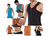 Men's women's ultra sweat neoprene body vest corset
