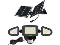 NEW MEIHUA Solar Spotlights with Motion Sensor Outdoor LED Security Lights IP66 Waterproof 270°